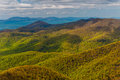 Spring colors in the appalachian mountains in shenandoah national park virginia seen from blackrock summit Stock Photography