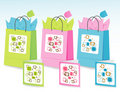 Spring Colors Gift Bags Royalty Free Stock Photo