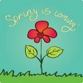 Spring is coming Royalty Free Stock Photography