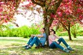 Spring is coming! Family resting. Royalty Free Stock Photo