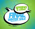 Spring is coming final winter sale design with balloons Stock Images