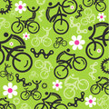 Spring cycling decorative background Royalty Free Stock Photo
