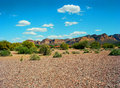 Spring in the desert arizona mountain valley Stock Photography