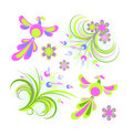 Spring design elements Royalty Free Stock Photo