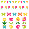 Spring design elements set Royalty Free Stock Photography