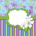Spring Design template.Cherry flowers background a Stock Photo