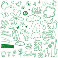 Spring Doodles Royalty Free Stock Photo