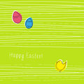 Spring easter card Stock Photography
