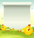 Spring Easter Chicken Background Royalty Free Stock Photos