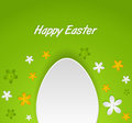 Spring easter egg card greeting Royalty Free Stock Images