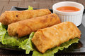 Spring egg rolls Stock Photo