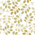 Spring endless pattern with green flowers and leaves Royalty Free Stock Photo