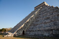 Spring equinox at chichen itza kukulcan temple the feathered serpent god of the mayans crawls down the pyramid el castillo during Stock Photography