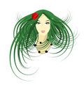 Spring fairy (avatar) vector Stock Images