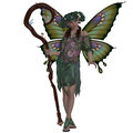 Spring fairy a is a mythical creature of folklore and mystery representing the colors of Royalty Free Stock Image