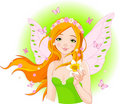 Spring fairy with narcissus