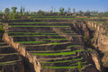 Spring farmland gansu china Stock Photo