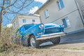 Spring fever of old classic car Royalty Free Stock Photo
