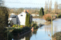 Spring flooding in gloucestershire the the february uk Royalty Free Stock Photography