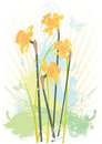 Spring floral grunge vector illustration Royalty Free Stock Photography