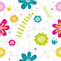 Spring floral pattern whit bright colours Stock Photography