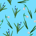 Spring floral seamless pattern vector Royalty Free Stock Photo