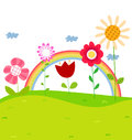 Spring flower background illustration of Royalty Free Stock Photography