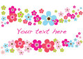 Spring Flower Card Royalty Free Stock Images