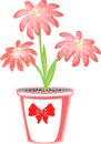 Spring flower in a flowerpot Royalty Free Stock Image