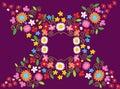 Spring Flower Frame Stock Image