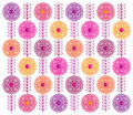 Spring flowers abstract pattern Stock Photo