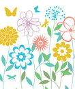 Spring flowers, vector Royalty Free Stock Photo