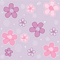 Spring flowers seamless pattern Stock Image