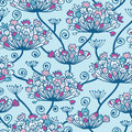 Spring flowers seamless pattern background vectpr with hand draw elements Royalty Free Stock Images