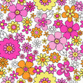 Spring Flowers Seamless Repeat Pattern Vector Illu Stock Photos