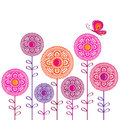Spring flowers vector illustration Stock Photos