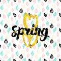 Spring Fower Handwritten Card