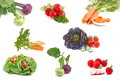 Spring fresh vegetables set on white background Royalty Free Stock Image