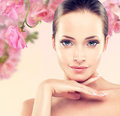 Spring freshness a young girl with a pure and well groomed skin Royalty Free Stock Image