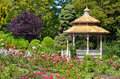 Spring garden gazebo Royalty Free Stock Images