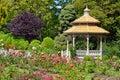 Spring garden gazebo Royalty Free Stock Photo