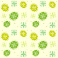 Spring Green. Abstract Floral Pattern. Seamless Background Vector Illustration. Royalty Free Stock Photo