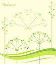 Spring Green Leaves. Floral Background. Vector Illustration Spring Patterns. Royalty Free Stock Photo