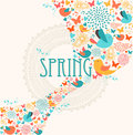 Spring greeting card illustration