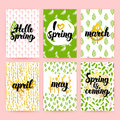 Spring Greetings Trendy Brochures