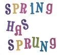 Spring Has Sprung! Royalty Free Stock Photo