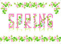 Spring heading, design elements Royalty Free Stock Photo