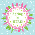 Spring is here theme greeting card Royalty Free Stock Photo