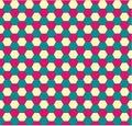 Spring hexagonal seamless pattern Stock Images