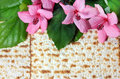 Spring holiday of passover and its attributes matzo Royalty Free Stock Photography